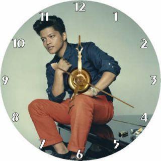 Brand New Singer Songwriter Bruno Mars CD Clock