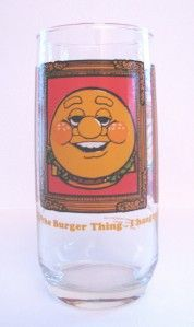 vintage burger king glass cup 1979 burger thing nice