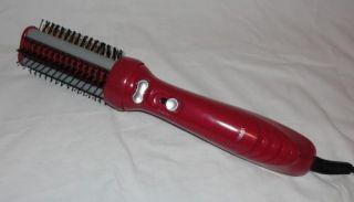 Red Revo Styler Hot Air Brush Rotating Hot Air Hair Brush Turns Both