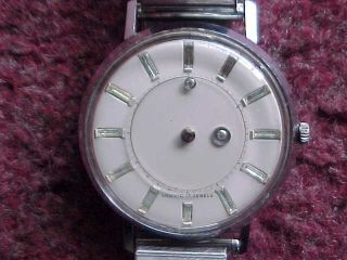 Vintage Louvic 17 Jewel Mystery Dial Mens Wrist Watch