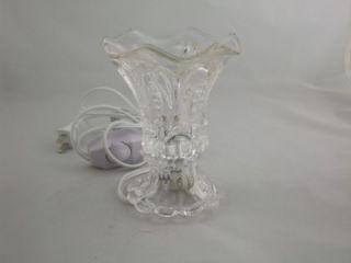 Night Light Electric Oil Lamp Tart Warmer Burner OA136C Clear Crystal