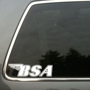 Vintage BSA Motorcycle Parts Window Custom Vinyl Decal