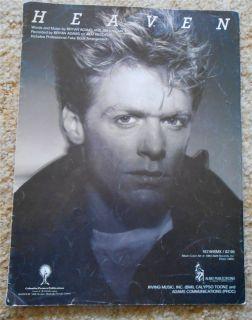 Heaven Bryan Adams Sheet Music 1984
