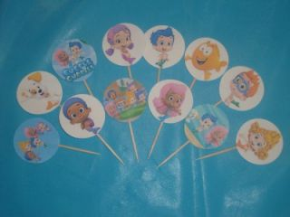 Bubble Guppies Cupcake Cake Picks Birthday Decorations