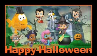 Bubble Guppies Halloween Frosting Sheet Edible Cake Topper