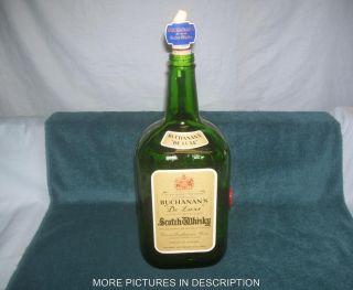 Older Buchanans Deluxe Scotch Whisky Bottle Green 133 1 3 Ounces