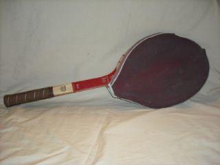 vintage wilson butch buchholz wooden tennis racquet