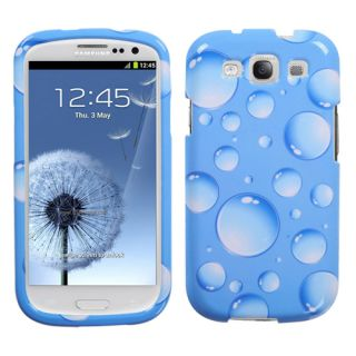 III 3 Hard Protector Case Snap on Phone Cover Blue Bubbles