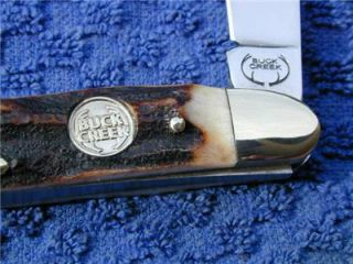 Buck Creek Genuine Stag Muskrat Solingen Germany Knife