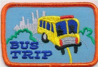 Girl Boy Cub Bus Trip Tour Ride Fun Patches Crests Badges Scouts