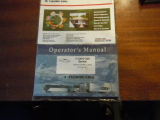 Thermo King Owners Manual for V200 V300 Series Exc Condition