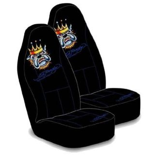 Ed Hardy Bulldog Bucket Seat Covers Car Truck SUV CUV Minivan