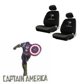 Captain America Avengers Comics Low Back Bucket Car Seat Covers Set