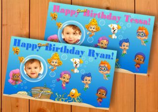 Bubble Guppies Custom Birthday Banner Party Decoration