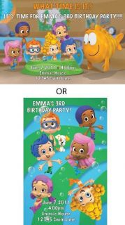 Bubble Guppies Birthday Party Invitations w Envelopes