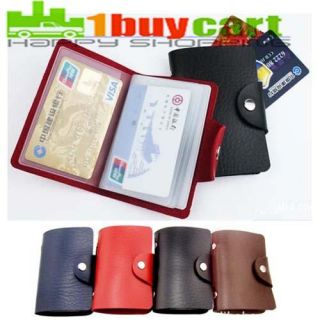 Hot Sale Woman PU Leather Business Credit ID Card Holder Purse Wallet