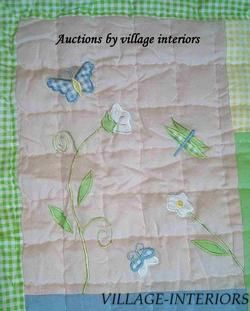 CLEARANCE New Butterfly Floral Baby Girl Crib Quilt Bedding Set