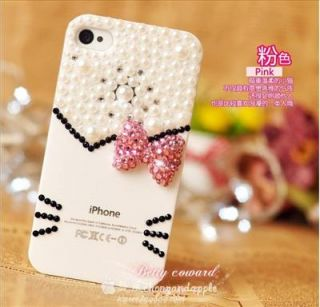 hello kitty Luxury Crystal Butterfly Case Cover for iphone4g 4s + Gift