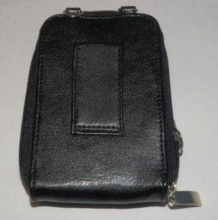 Buxton Cell Phone Black Leather Wallet Organizer Magnet Snap
