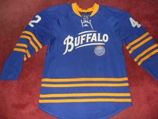 Buffalo Sabres Authentic NHL Center Ice Edge 40th Jersey throwback