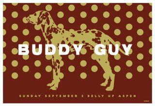 buddy guy belly up aspen 9 2 2012 artist scrojo 19 x 13 inches scrojo