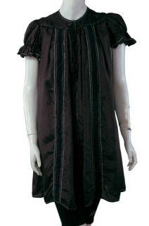 New $515 by Malene Birger Black Lace Silk Tunic Dress M