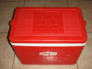 Vintage 1980s Promo Official Budweiser Beer Large Cooler Ice Chest Bee