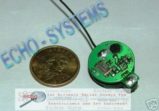 Micro Spy Crystal UHF Transmitter Bug Listening Device