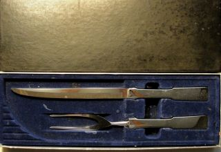 Stainless Steel CARVING SET Knife Fork BYFIELD Pattern in Original Box