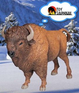 Papo Wild Life American Buffalo Bison 50119 Brand New