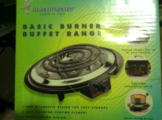 Single Burner Hot Plate Portable Cook Top Drip Pan Range Buffet