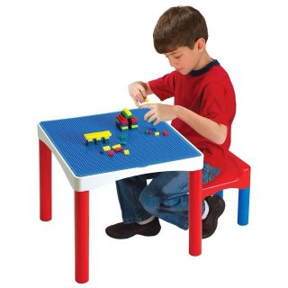 New Building Blocks Table Chair Works With Lego Duplo Mega Blok 75p