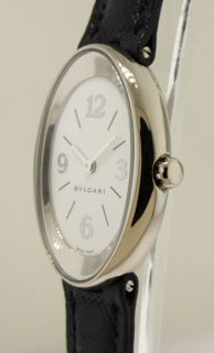 Bulgari Ladies Ovale 18k White Gold Swiss Made Watch OVW32GL N