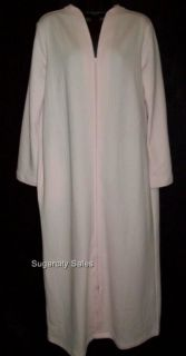 Cabernet Double Knit Long Zip Front Robe Pink M