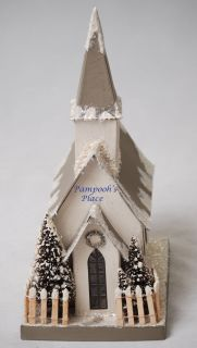Larry Buller Winter Church Lantern Christmas Folk Art