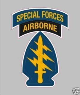2120 Army Special Forces Airborne Military Bumper Sticker Decal