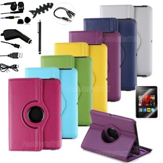 Leather Case Cover Protecto r Accessory Bundles For Kindle Fire HD 7