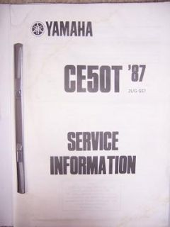 1987 Yamaha Motor Scooter Service Manual CE50T 87 U