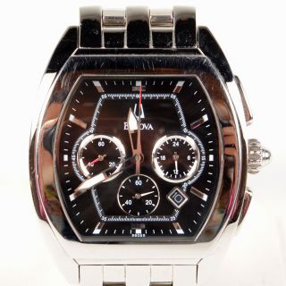 Mens Bulova Stainless Steel Watch C8671151 Chronograph Date Water