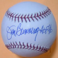 Jim Bunning Autographed Signed MLB Baseball Detroit Tigers w HOF 96