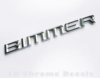 Bimmer BMW Chrome Auto Bike Decal Bumper Sticker
