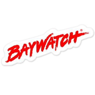Baywatch Car Bumper Sticker Decal 7 x 3
