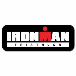 Ironman Triathlon Car Bumper Sticker Decal 8 x 3