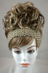 Blond Bun Based Updo w Drawstring Pageant Hairpiece
