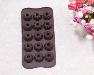 Silicone Candy Chocolate Mold Cake Pan Jelly Ice Cookie Soap Mold