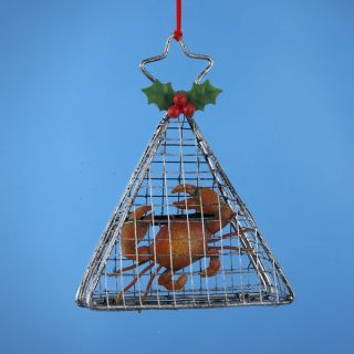 12 Beach Party Crab Pot Cage Christmas Ornaments 4
