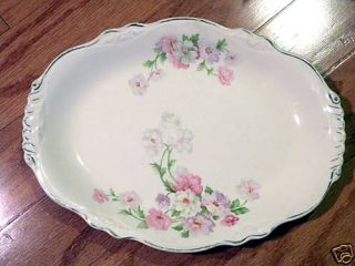 Vintage Pre 1950s Serving Plate with Flower Design