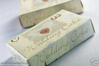100 Luxury Designer Ivory Cream Gold Wedding Cake Boxes