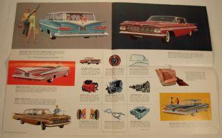 1959 Chevrolet Advertising Sales Color Brochure Booklet