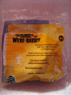 Burger King Toy The Curse of The Were Rabbit